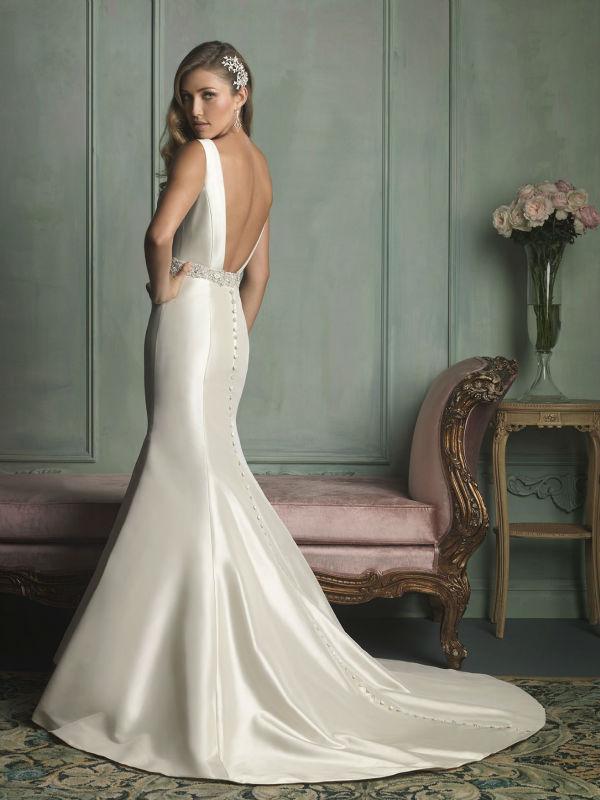 Weeding blog photo: Sleek satin wedding dress