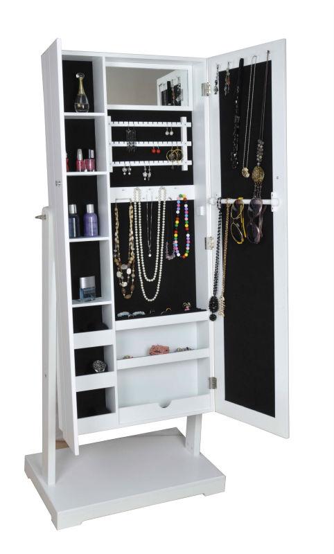 Miroir armoire bijoux avec deux porte c t gauche avec for Application miroir pc