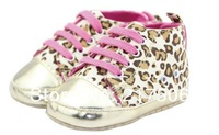 Пинетки 0226! leopard Beautiful children's shoe gold leopard Baby Shoes color leopard soft sole baby shoe, 2 colors, Retail