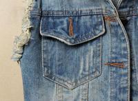 новые женщины дамы изношен персонализированные кардиганы денима Жан Жилет Пальто 5 размеров