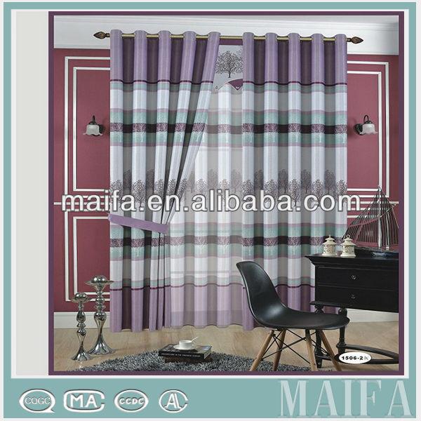 Nuevo diseño azul foot print blackout cortinas de la moda de ...