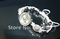 Наручные часы 7 colors Watch Shamballa Bracelets With 10mm Clay Disco Crystal Ball Mix Option