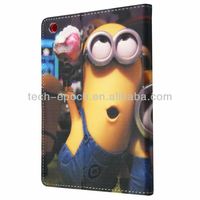 Cute cartoon leather case for ipad mini fashion new arrive