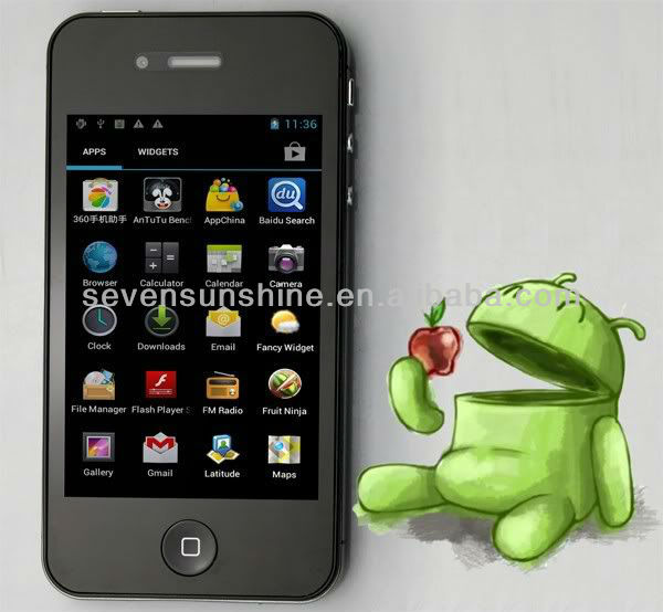 """3.5"""" w007 mtk6575 android cell phone"""