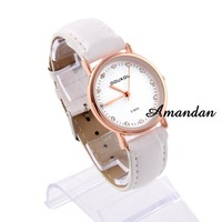 Наручные часы watch127/, Casual women wrist watche, Simple Classic Dial Quartz Wristwatch with PU Strap, 3 color