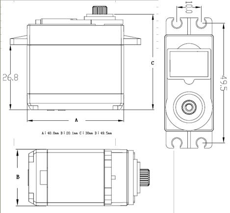 FS5106B 6KG Plastic Gears Analog Servo for rc airplane/rc boat/rc car
