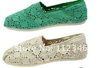 Женские мокасины 2012 Hot sale! new Latest openwork crochet shoes super comfortable shoes