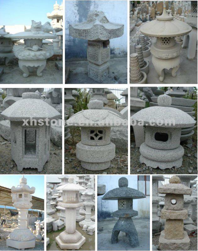 Sculpt la main pierre de granit jardin japonais pagodes for Accessoire jardin japonais