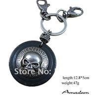 Женская одежда из кожи ky058/leather Key chain/ring, men punk leather skull key chain, fashion jewlery, handmade jewelry, 100% genuine leather