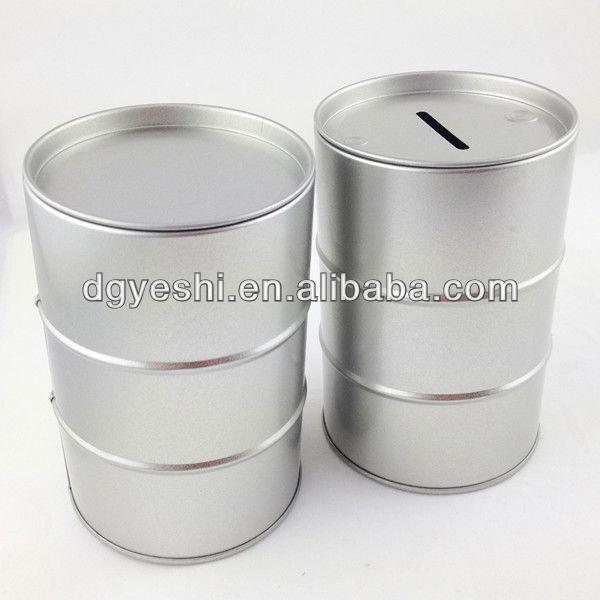 Round tin pencil box
