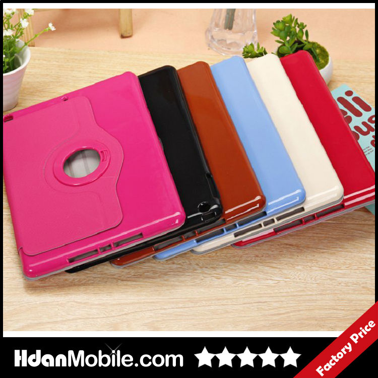 Rotating PU Leather Magnetic Smart Cover Stand Case For iPad mini 2