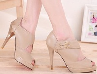 Туфли на высоком каблуке hot sell 2012 p1091 high quality dress casual open toe shoes lady's high heel shoes size 35-39