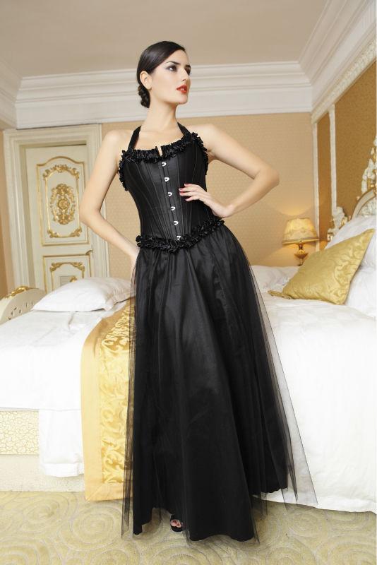 длинные юбки с корсетами: