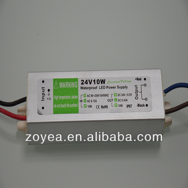 5W 6W 12v 24v dc waterproof constant voltage led driver