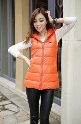 3XL осенью и зимой плюс размер женщин жилет с капюшоном жилет кожа пиджак жилет slim вниз хлопка жилет женщин f0299 пу
