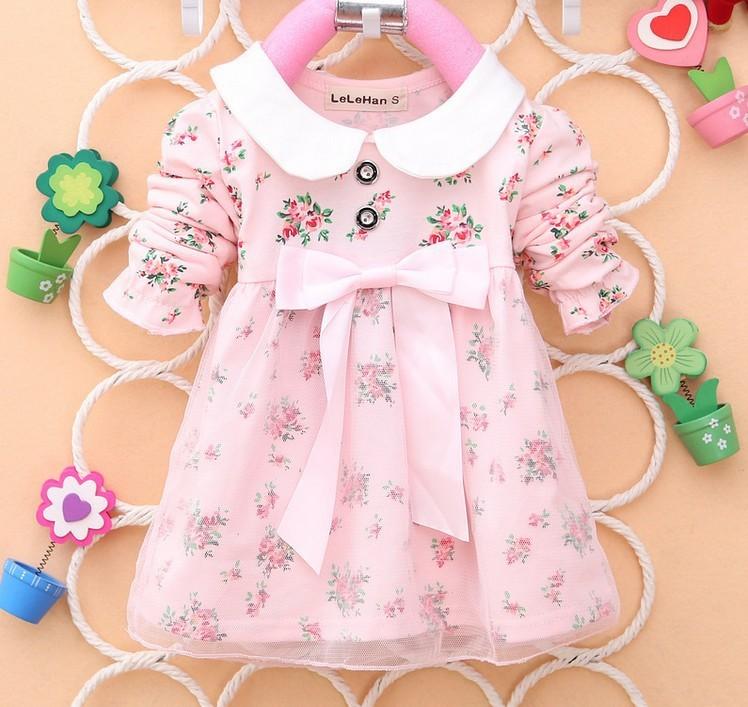 009e9f6f6 2019 Wholesale 2015 New Baby Autumn Hot Sell Baby Dress Kids Wear ...