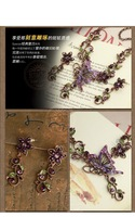 новые украшения стразами свадебный цветок устанавливает бабочки ожерелье и серьги устанавливает Свадебные подарки