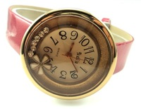 Наручные часы Sport fashion wrist watch, leather quartz watch, crystal women watch Sample Order $155-2911