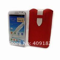Чехол для для мобильных телефонов Hot New PU leather Pouch Sleeve Bag Pull Tab Case for Samsung Galaxy Note 2 n7100 Phone Case
