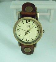 Наручные часы christmas gift brown Genuine Cow leather watch Men Women fashion wrist quartz watch kow033
