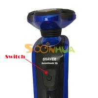 новые 3d мужчин моющиеся аккумуляторная электрическая бритва rscx-8850