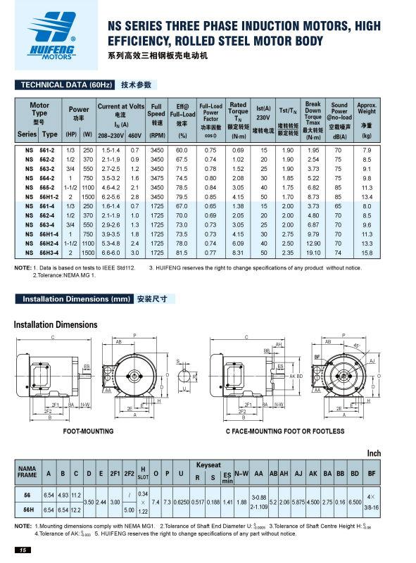 Csa Certificate Nema Standard Three Phase Motor Buy
