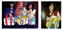 "Рюкзак 5 color Creative polyester ""jump from the paper"" Novelty Comic cartoon 2D vivid Shoulder Messenger Bag"