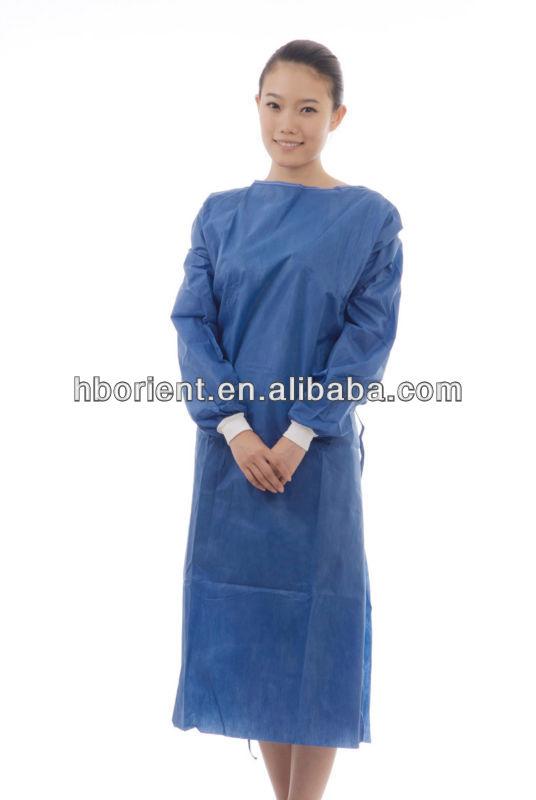 Стерильные одноразовые нетканые SMS/PP хирургические операции платье