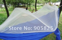 гамак outdoor camping hammock with mosquito net anti-pest hammock yard guard household 120kg load 2.5m