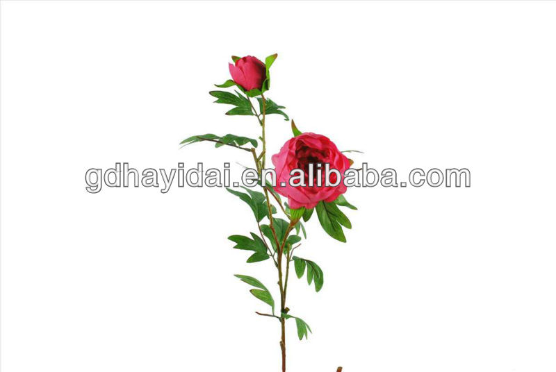 single rose real touch artificial flower for decorative