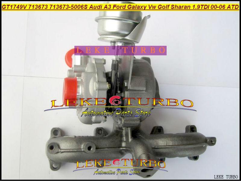 LEKE GT1749V 713673-5006S 713673 turbocharger turbo for Audi A3 Ford Galaxy VW Golf Sharan 1.9 TDI 2000-06 AUY AJM ASV ATD 1.9L 85KW Diesel 115HP (1)