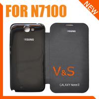 Чехол для для мобильных телефонов Flip Case for N7100, Leather Flip Cover With Back Battery Case For Samsung Galaxy Note II N7100+NFC +1pcs screen protector