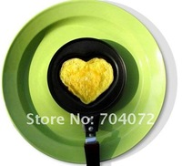 wholesale free shipping - heart shape carbon steel non-stick coating mini DIY frying pan