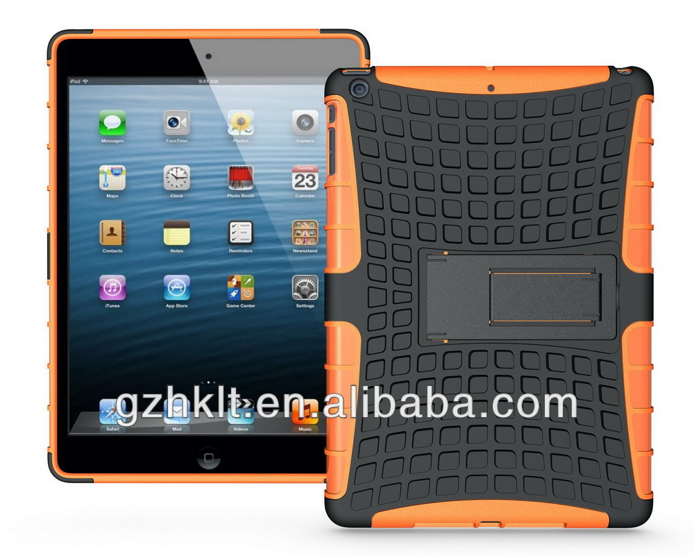 2013 TPU+PC hybrid case for iPad air with kickstand