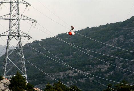 Aerial marker ball for transmission line
