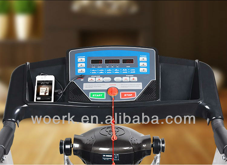Hot sole exercise machine treadmill 2.5hp motor