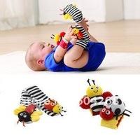 Детская плюшевая игрушка candice guo! baby rattle baby toys Lamaze Garden Bug Wrist Rattle 10pcs+Foot Socks10pcs= 20pcs