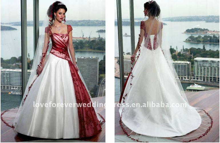 Fabuleux Foto abiti da sposa rossi e bianchi | Blog su abiti da sposa Italia MH42
