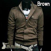 Мужская толстовка Holiday Sale High collar coat 2013 Hoodies top brand men's jackets, men's dust coat, men'soutwear Y1601