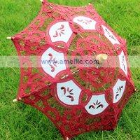 HOT Sale Bridal Accessories Wedding Lace Parasol Umbrella,DHL Free Shipping