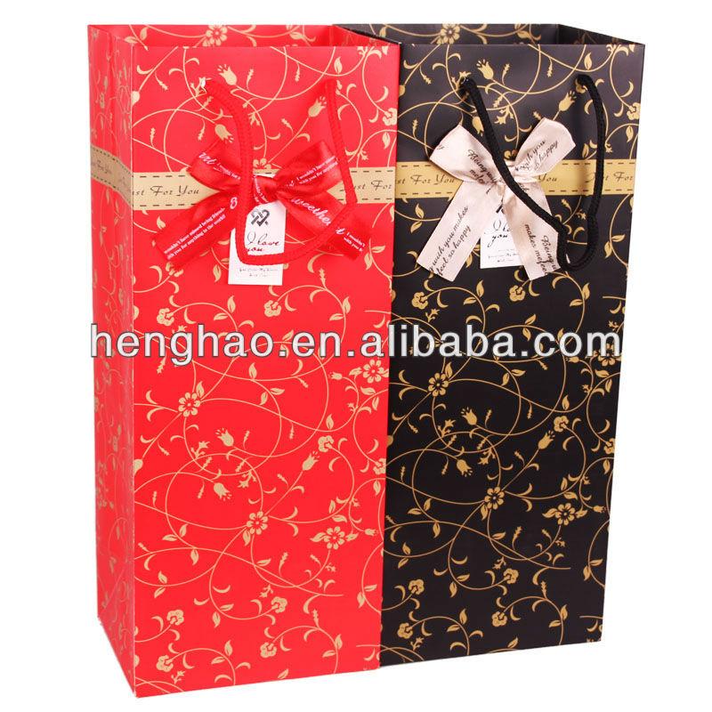 vino scatola di carta di colore rosso