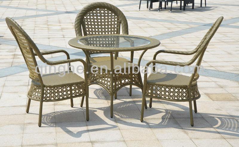 حديقة الأثاث الروطان تأثير مع طاولة القهوة والكراسي