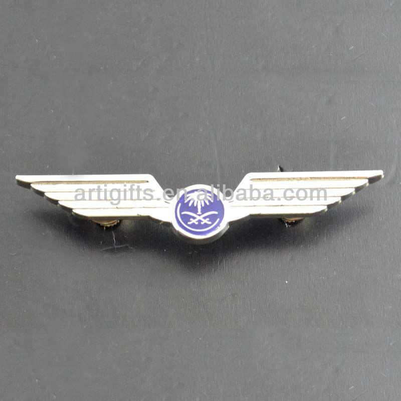 Factory wholesale die casting metal pilot wing badge