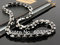Колье-цепь TGN030 new style multiple rings 3 colors men's fashion chain necklace necklet Titanium 316L stainless steel jewelry