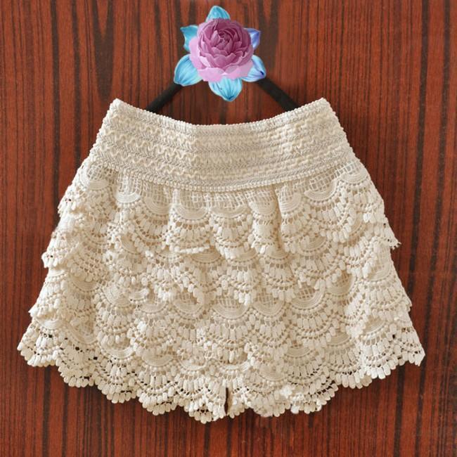 Вязанная юбка шорты