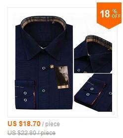 Мужская классическая рубашка AL-BOZE Slim Fit
