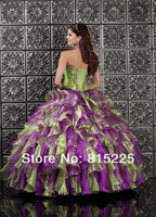 New 2013 Ball Gown Quinceanera Dress Sweetheart Organza Fabric Tassel Pleat Embroidery Applique Short Sleeves Jacket Bandage