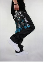 Мужские джинсы Men's Fashion Sport Jeans Hiphop Skateboard Pants Street Dancing Wear 7 Size MJ42