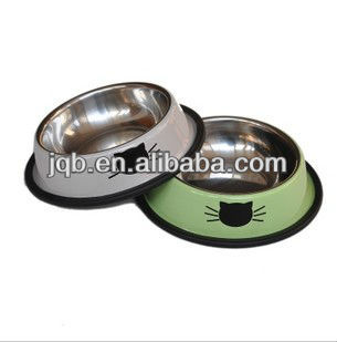 pet water bowl in Winolaz Brand and Class Design With Anti-slip Rubber Ring MOQ 500PCS