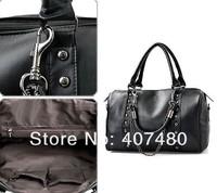 Wholesale retail rivet metal chain vintage shoulder bag Handbags totes sling Lady girl's Fashion brand color popular
